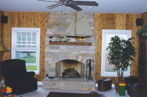 Winter nights will warm up with a custom fireplace.